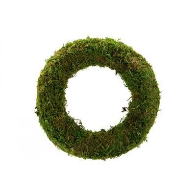 KRANS RATTAN-GRASS  GROEN 25X25XH6CM ROND  Cosy @ Home