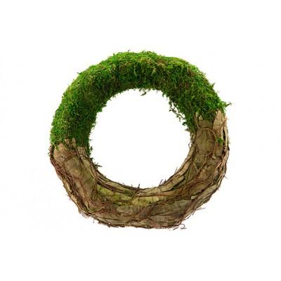KRANS RATTAN-GRASS  NATUUR 35X35XH7CM ROND  Cosy @ Home