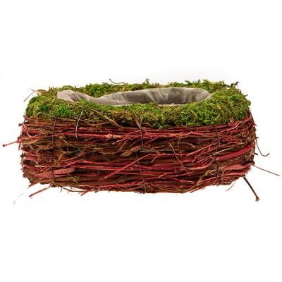 MAND RATTAN-GRASS  NATUUR 22X15XH8CM OVAAL  Cosy @ Home