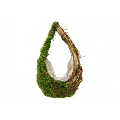 MAND DROP RATTAN-GRASS  NATUUR 16X13XH28CM LANGWERPIG  Cosy @ Home