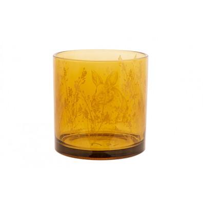 THEELICHTHOUDER BUNNY GEEL 10X10XH12,5CM GLAS  Cosy @ Home