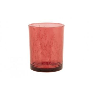 THEELICHTHOUDER BUNNY ROZE 15X15XH15CM GLAS