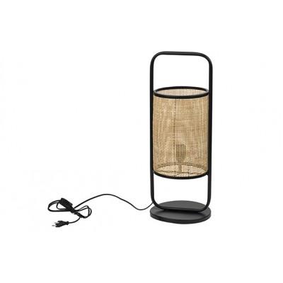 LAMP REED NATURE ZWART 30X30XH92CM RONDMETAAL  Cosy @ Home