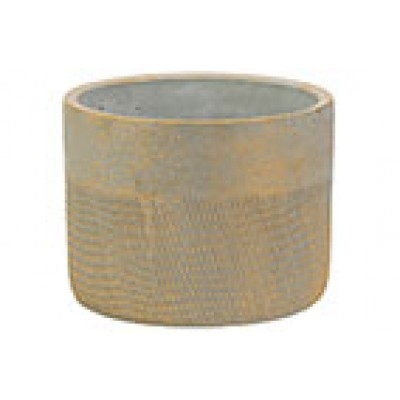 Bloempot Gold Brushed Greige 18x18xh14cm Rond Cement  Cosy @ Home