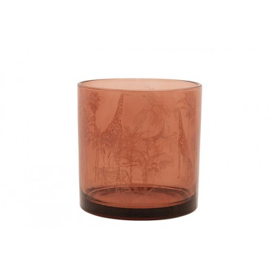 THEELICHTHOUDER GIRAFFE TERRACOTTA 15X15XH15CM GLAS  Cosy @ Home