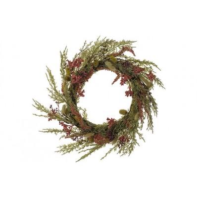 Krans Dried Flowers Mix Roze D45cm Kunststof