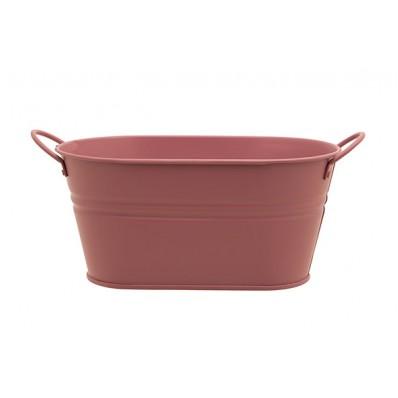 Plantenbak Urban 2 Handles Roze Ovaal Metaal