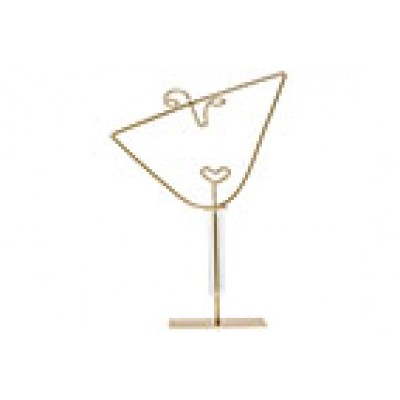 BEELD OPEN FACE M GLASS TUBE 3,5X15CM GOUD 29X8XH41,5CM ANDERE METAAL-GLAS