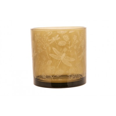 THEELICHTHOUDER GIRAFFE TAUPE 15X15XH15CM GLAS  Cosy @ Home