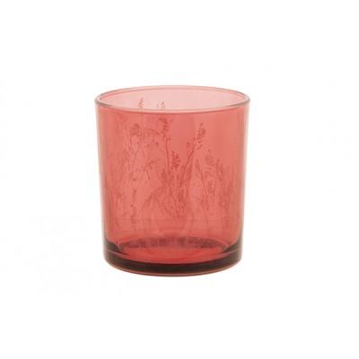 THEELICHTHOUDER BUNNY ROZE 7X7XH8CM GLAS