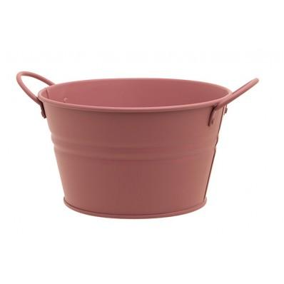 Plantenbak Urban 2 Handles Roze 15,5x11,5xh9,2cm Rond Conisch Metaal