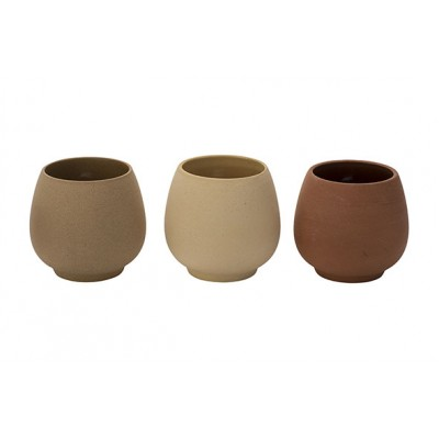 Bloempot 3ass Terracotta 18,8x12,5xh14,5cm Keramiek  Cosy @ Home