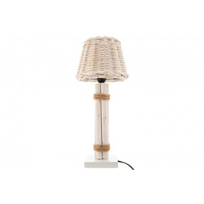 LAMP HAMPTONS WIT 20X20XH45CM ANDERE HOUT  Cosy @ Home