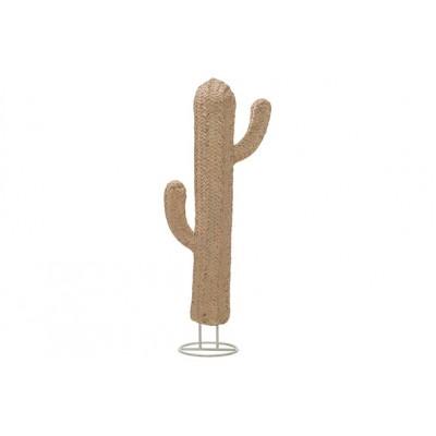 Cactus Rattanlook Taupe 23x14xh62cm Resin