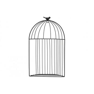Rek Bird Wall Hanger Zwart 24x9xh41cm Andere Metaal  Cosy @ Home