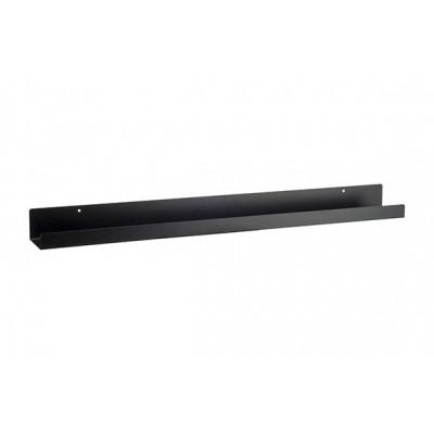 Legplank Zwart 80x9xh6cm Rechthoek Metaal  Cosy @ Home
