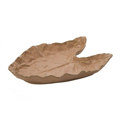 Blad Plate Taupe 29x18,5xh4,5cm Keramiek