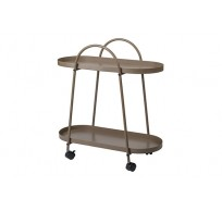 Trolley Table Taupe 60x27,5xh63cm Metaal