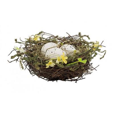 Nest X3 Eggs Flower Mix Groen 23x23xh9cm Rond Kunststof