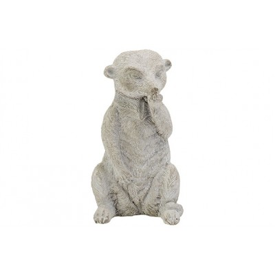 Beeld Stick Tail White Wash Greige 10x8,5xh19,5cm Andere Cement