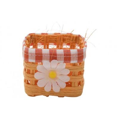 Mand Daisy Oranje 7x7xh6cm