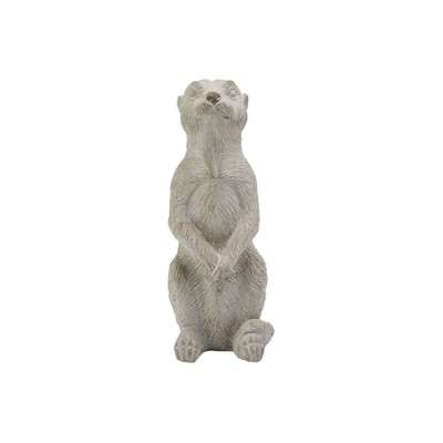 Beeld Stick Tail White Wash Greige 11x11xh30cm Langwerpig Cement