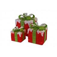 Ratan 3 Cadeau Rood Groene Stirik 75led