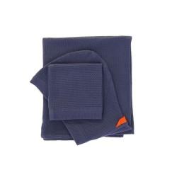 Home Baby Hooded Towel Set midnight blue  Ekobo