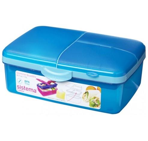Vibe Lunch lunchbox met drinkfles Slimline Quaddie 1.5L   Sistema