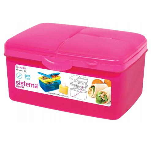 Vibe Lunch lunchbox met drinkfles Quaddie 2L   Sistema