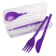 To Go bestekset - mes - vork - lepel & chopsticks