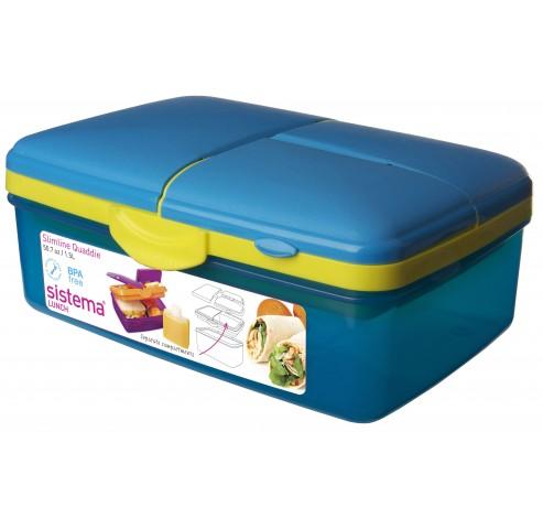 Trends Lunch lunchbox met drinkfles Slimline Quaddie 1.5L   Sistema