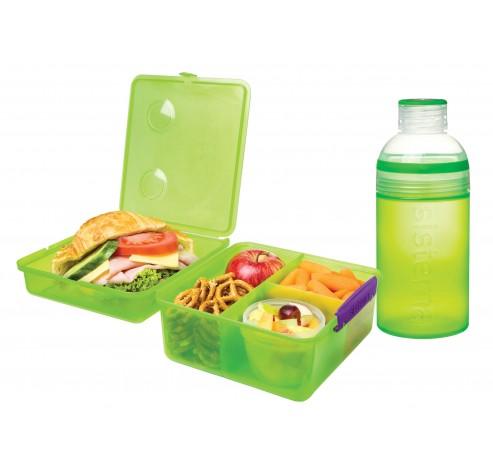 Lunch packs lunchbox cube max & drinkfles trio 480ml   Sistema