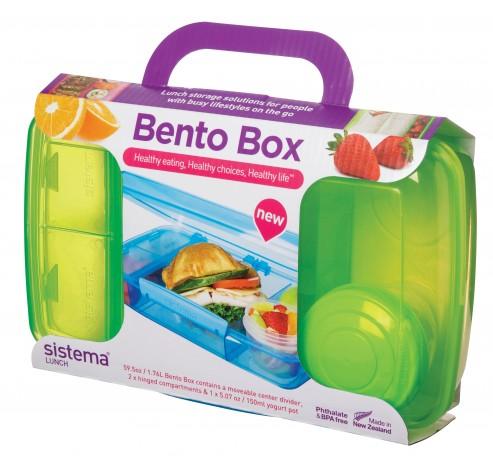 Lunch packs lunchbox met yoghurtpotje Bento Box 1.76L   Sistema