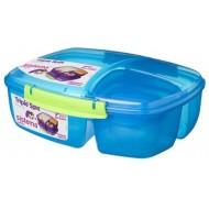 Trends Lunch lunchbox met yoghurtpotje blauw 2L