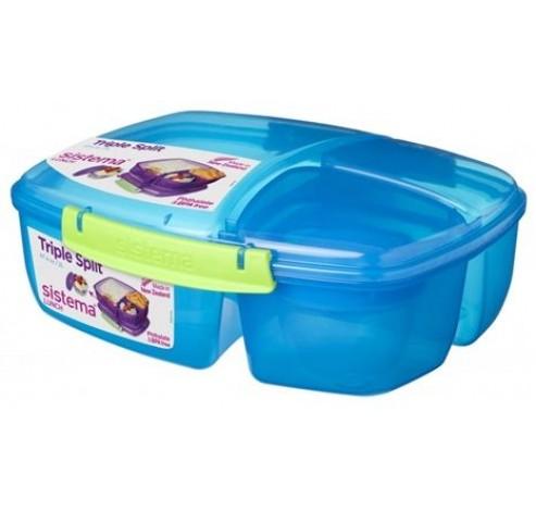 Trends Lunch lunchbox met yoghurtpotje blauw 2L   Sistema