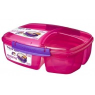 Trends Lunch lunchbox met 3 compartimenten roze 2L