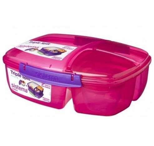 Trends Lunch lunchbox met 3 compartimenten roze 2L   Sistema