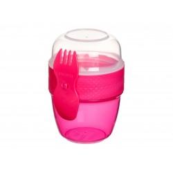 Snackdoos Snack Capsule met lepel/vork Sistema