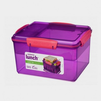 TRENDS LUNCH LUNCHBOX MET 4 COMPARTIMENTEN LUNCH TUB 2.3L