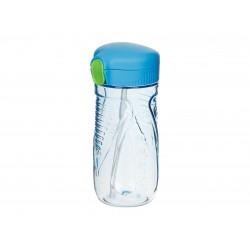 Hydrate drinkfles met rietje Tritan Quick Flip blauw 520ml  Sistema