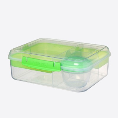To Go Bento lunchbox 4 compart. & yoghurtpotje Minty Teal 1.65L   Sistema