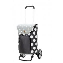 Alu Star Shopper Dots grijs  Andersen Shopper