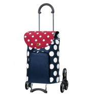 Treppensteiger Scala Shopper Dots blauw