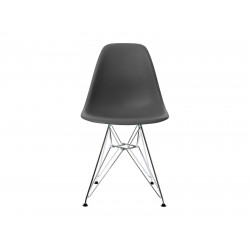 EPC DSR P.Side Chair - base chrome-plated - basalt  Vitra.