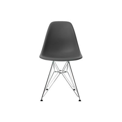 EPC DSR P.Side Chair - base chrome-plated - basalt  Vitra.