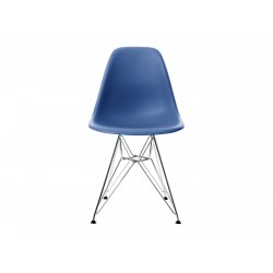 EPC DSR P.Side Chair - base chrome-plated - navy blue  Vitra.