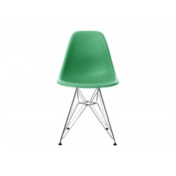 EPC DSR P.Side Chair - base chrome-plated - classic green  Vitra.