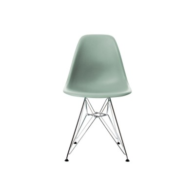 EPC DSR P.Side Chair - base chrome-plated - moss grey  Vitra.