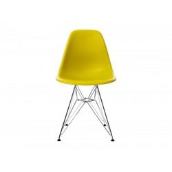EPC DSR P.Side Chair - base chrome-plated - mustard  Vitra.